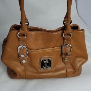 Tignanello tan leather purse